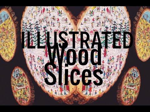 Illustrated Wood Slices- DIY