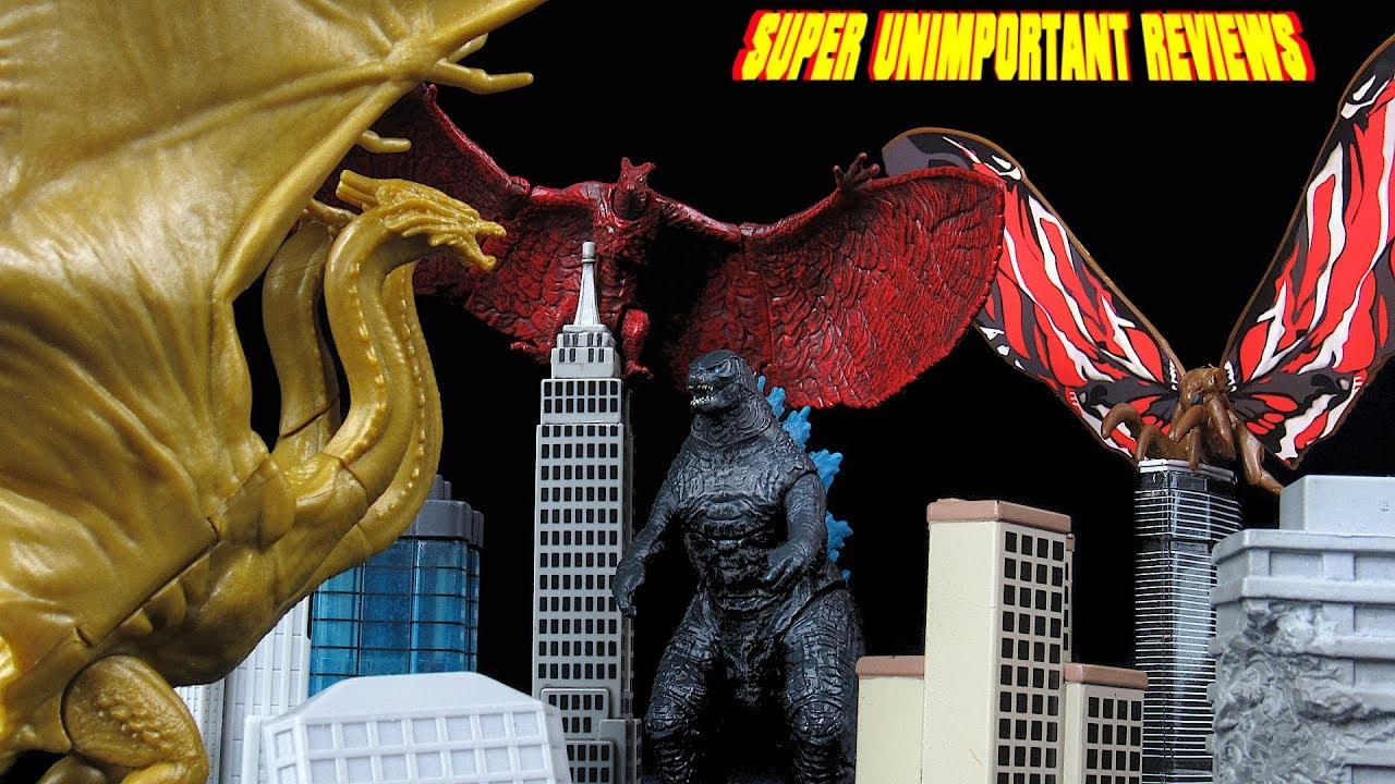 Jakks Godzilla K des monstres Pack combat Mothra King Ghidorah Rodan figures
