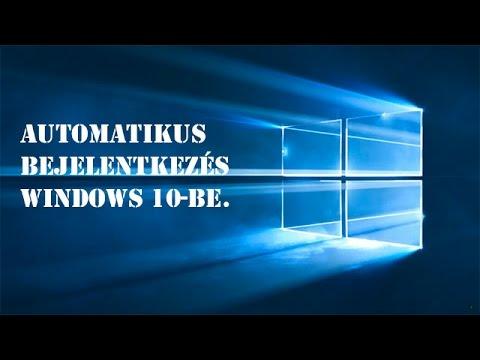 windows 10 bejelentkezés kikapcsolása