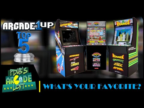 My Top 5 Arcade1Up Arcade Cabinets Released So Far LIVE! from PDubs Arcade Loft