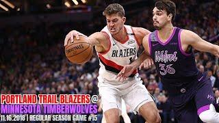 Portland Trail Blazers vs Minnesota Timberwolves - Full Game Highlights - November 16, 2018