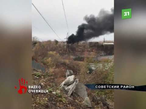 Бензовоз вспыхнул в Советском районе Челябинска