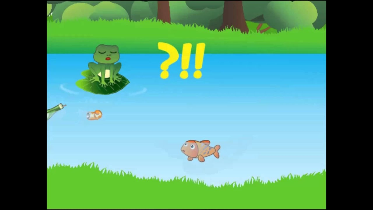 Water Pollution ; kid education flash animation 2D (part 1)