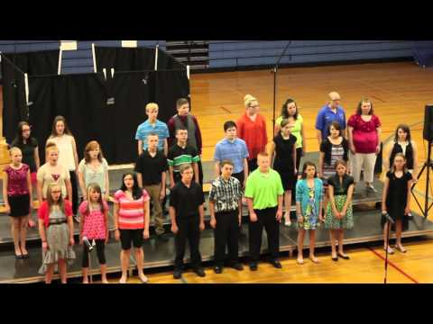 Hoopeston Area Middle School Chorus performs classic Michael Jackson song