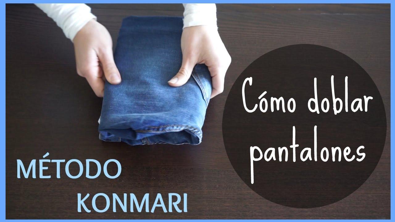 Como doblar pantalones para ahorrar espacio metodo - Metodo konmari ropa ...