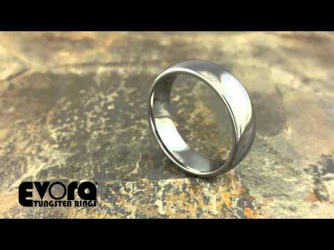 Abrantes Tungsten Ring 6mm Mens Wedding Band Evora Tungsten Rings