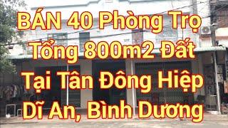 [Bình Dương] - Bán 2 dãy trọ 40 phòng (800m2 đất) tại Tân Đông Hiệp - Dĩ An / Giá bán : 15,5 tỷ/40p