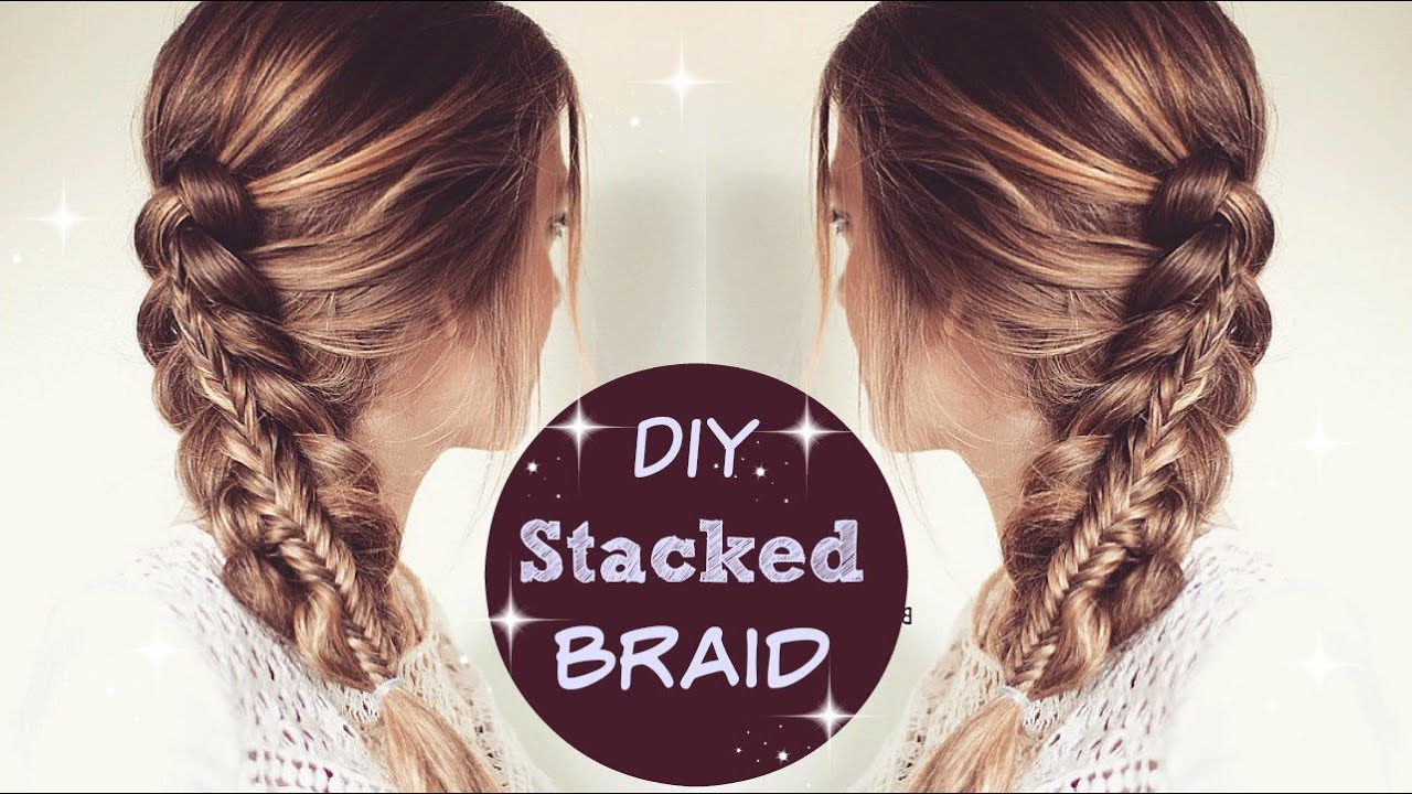 Hairstyles For School Yt : How to stacked braid tutorial hair tutorials impletitura