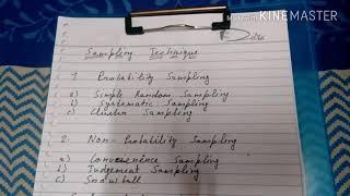 Sampling design:- probability and non probability sampling design in hindi