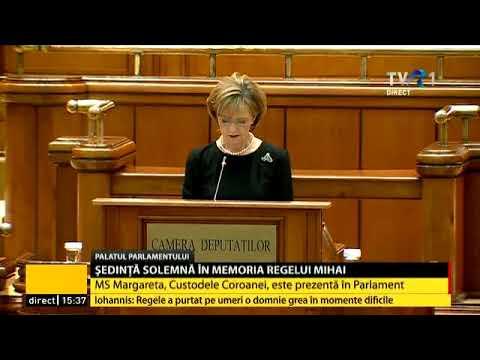 Ședință solemnă la Parlament, dedicată Regelui Mihai I: discursul MS Margareta, Custodele Coroanei
