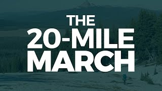 In the book great by choice, there is a concept called 20-mile marching. it helps us achieve things even chaotic world of ups and downs.read b...