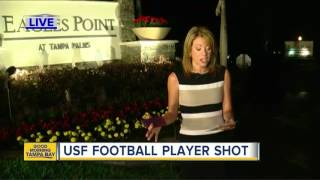 USF football player shot in road rage incident