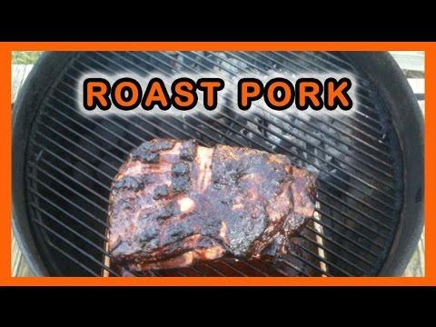 roast pork on a weber kettle grill youtube. Black Bedroom Furniture Sets. Home Design Ideas