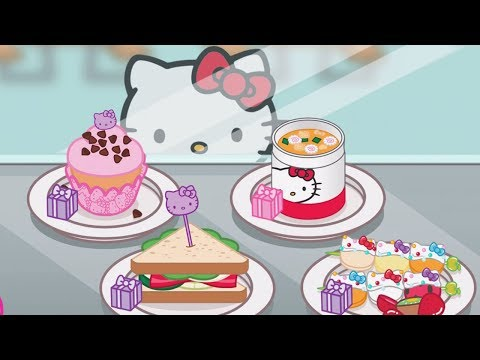 Baby Learn Cooking With Kitty - Hello Kitty Lunchbox | Children Play Fun Kitchen Kids Game