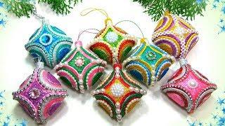 Ёлочные игрушки своими руками из фоамирана / diy christmas ornaments