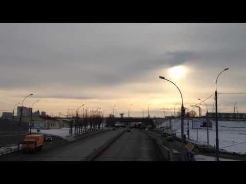 Новосибирск  Пьяная дорога улица Ватутина, Novosibirsk pyanaya doroga. Интересное видео.
