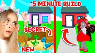 5 MINUTE *SECRET* BUILD CHALLENGE In Adopt Me! (Roblox)