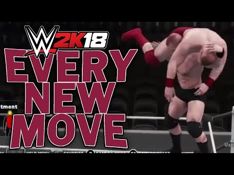 Every New Move in WWE 2K18 - All Moves (100% Speed / Slowed Down from Original Video)