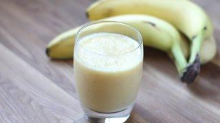 видео Готовим дома банановые соки и коктейли