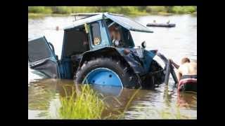 Трактор утонул в реке во время Трофи(, 2012-06-24T02:08:10.000Z)