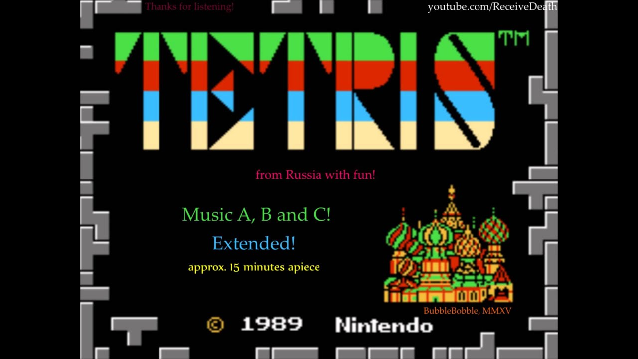 Tetris (NES) - Music A, B and C! (Extended)