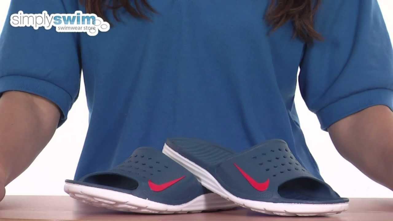f79df058e4aa Nike Solarsoft Slide Pool Shoe - www.simplyswim.com - YouTube