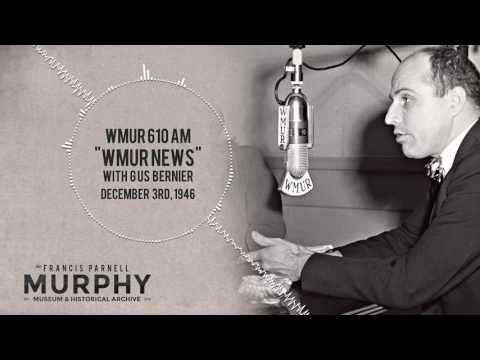 WMUR 610AM (now WGIR) Radio presents the news from December 3rd, 1946 with Gus Bernier!