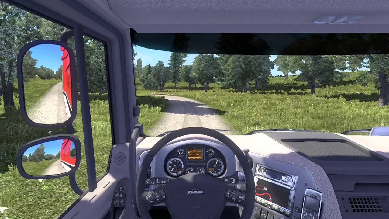 euro truck simulator 2 poland rebuilding dirt road. Black Bedroom Furniture Sets. Home Design Ideas
