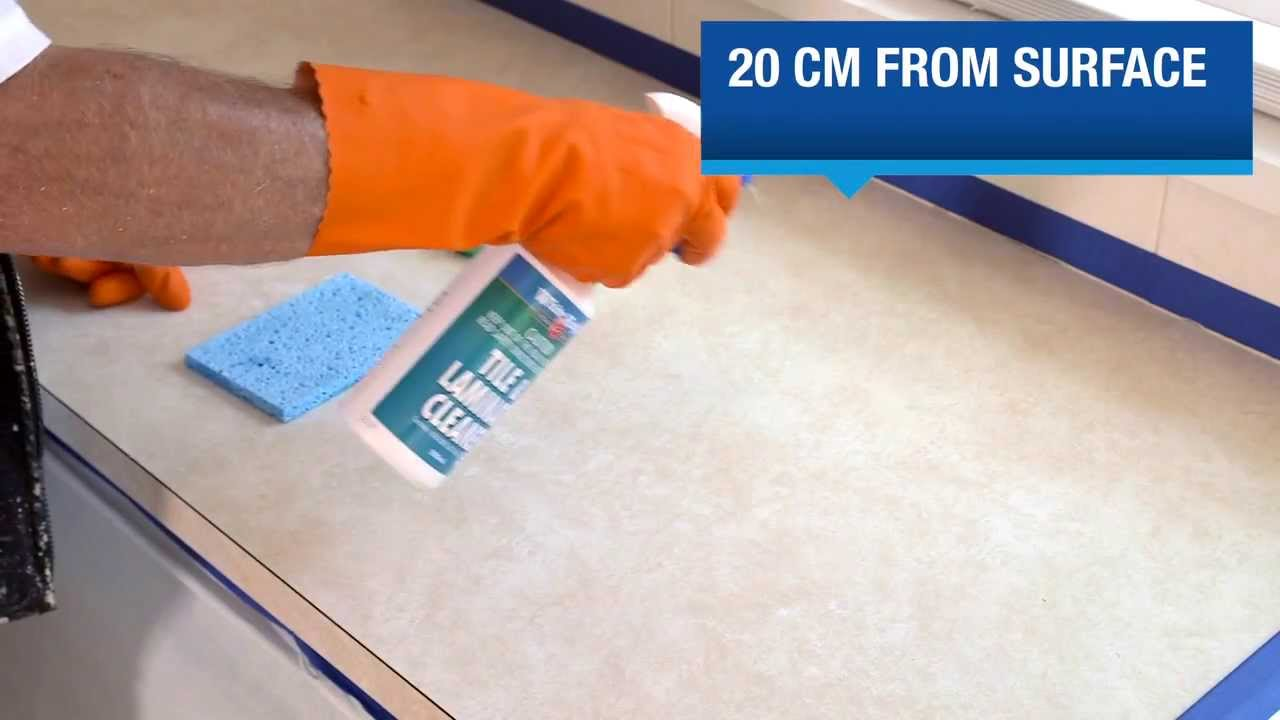 How to Paint a Laminate Bench Top - YouTube
