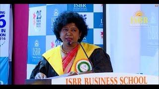 DR Devika Gunasheela, Gunasheela Group of Hospitals Address at ISBR Convocation 2016