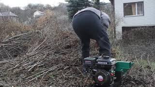 Работа измельчителя веток  г Белгород видео отзыв