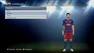 [PES 2015] FCBarcelona and Messi Face + Tattoo PES 2016