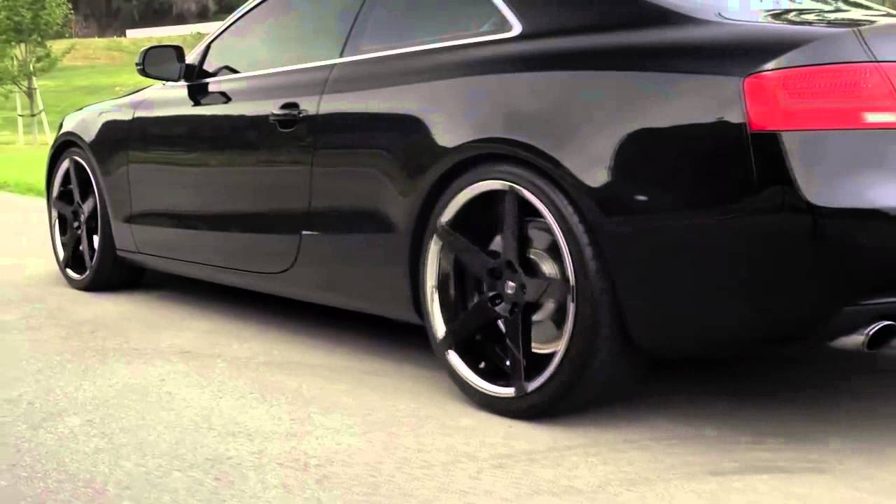 Audi A5 On 20 Invictus Z Black Vs Machined Finishes