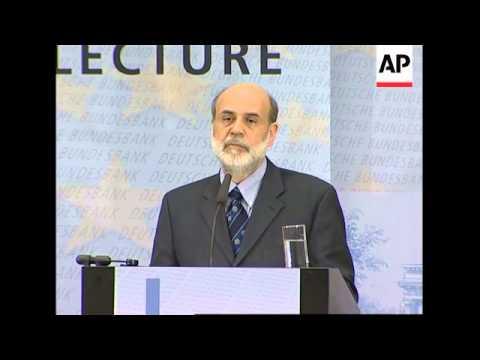 US Federal Reserve chairman Bernanke meets German bank chief