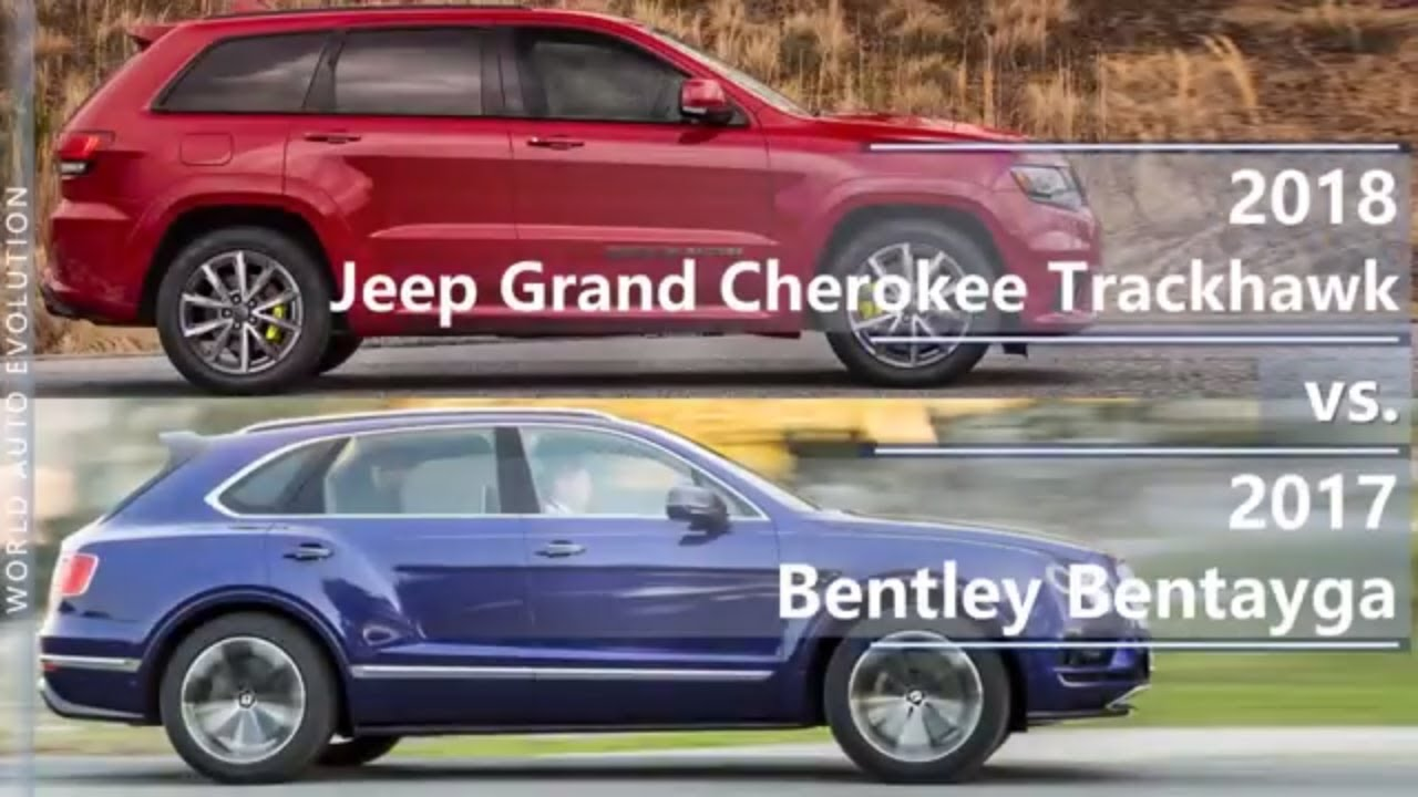 2018 Jeep Grand Cherokee Trackhawk Vs 2017 Bentley Bentayga Technical Comparison