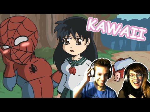 SPIDERMAN EN EL MUNDO KAWAII !!! | VIDEO REACCIÓN YUGO Y YAIMA