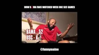 How Bama Fans Watched The Week One SEC Games (2016)