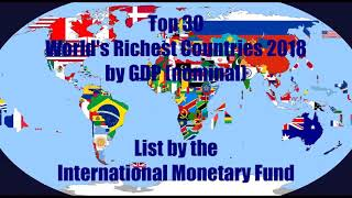 Baixar Top 30 Riches Country In The World By GDP [Nominal]
