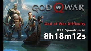 God of War (2018) - Speedrun in 8h18m12s [God of War Difficulty] 2018.6.28 World Record