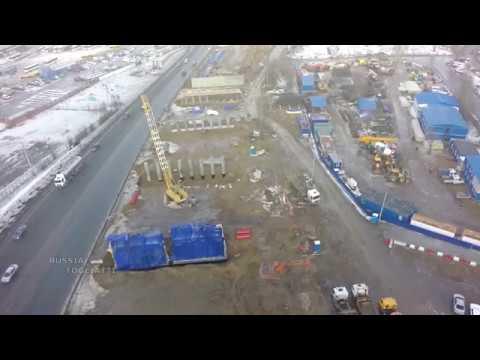 Строительство многоуровневой развязки  на трассе М-5 у микрорайона Жигулевское море #Тольятти