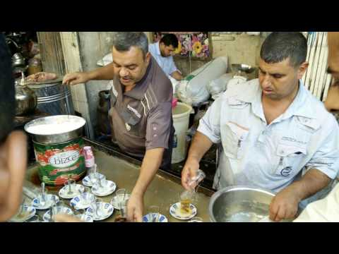 Traditional Tea Serving in Iraq. Dare to drink?!