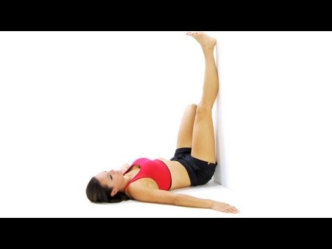 Stretches - hamstring stretch on back
