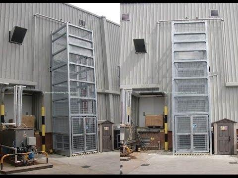 Goods lift galvanised outside goods lift external goods for Exterior dumbwaiter