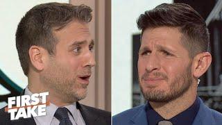 Max Kellerman and Dan Orlovsky get heated during a Carson Wentz debate | First Take