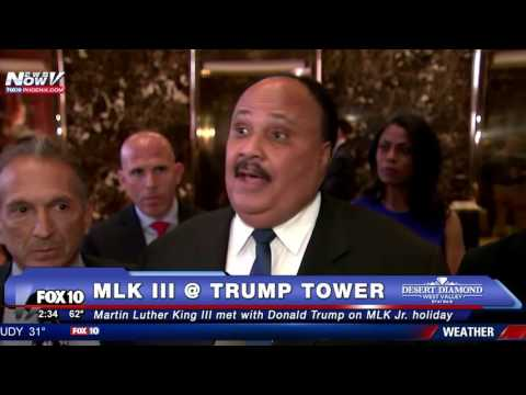 HISTORIC: Martin Luther King III Meets with Donald Trump on Father MLK Jr.'s National Holiday - FNN