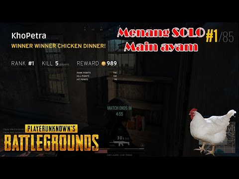 SOLO RANK 1 MAEN AYAM - PlayerUnknown's Battlegrounds