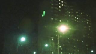 Лазерная наружная реклама #4(6 февраля 2010. Коммерческий образец одноцветного (зеленого) лазерного проектора. Яркость 6000 люмен. Площадь..., 2010-02-08T00:34:59.000Z)