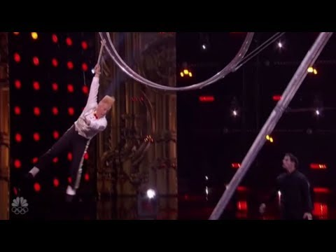 Thumbnail: Bello Nock: Simon Gives Daredevil a Second Chance and He SMASHES It!! America's Got Talent 2017