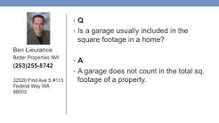 Is a garage usually included in the square footage in a home?