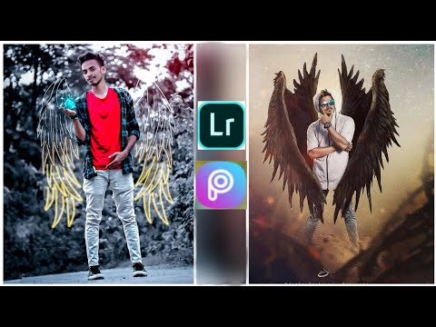Neon Wings Effect Photo Editing / Best Photo Editing .mobile Tutorial ( A K Edtz )